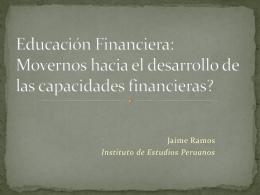Educación Financiera: Movernos hacia el desarrollo