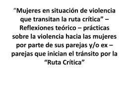 Mujeres en situación de violencia que transitan la