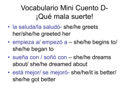 Vocabulario Mini Cuento D