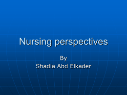 Nursing perspectives