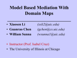 Model Based Mediation With Domain Maps