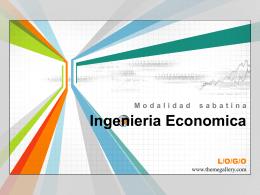 Ingenieria Economica - Ing. Edson Rodríguez