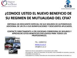 ¿CONOCE USTED EL NUEVO BENEFICIO DE SU REGIMEN DE