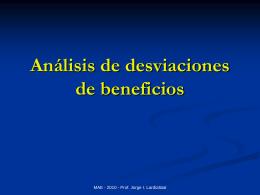 Análisis de desviaciones de beneficios