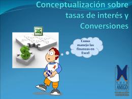 Conceptualización sobre tasas de interés