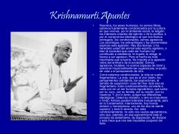 Krishnamurti.Apuntes