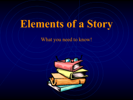Elements of a Story - Brenham Independent School