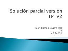 Corrección parcial versión 1P V1