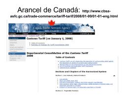 Arancel de Canadá: