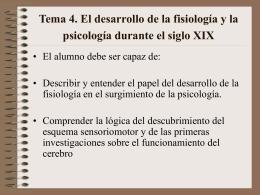Tema 4. El desarrollo de la fisiología y la