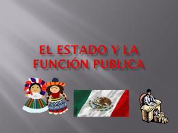 El estado y la función publica
