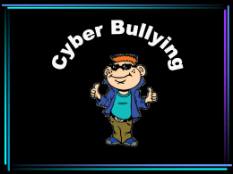 Cyber Bullying A Supplemental Lesson with