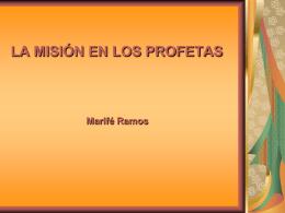 La Misión en los Profetas - Hermanos de la Sagrada