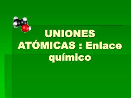 UNIONES ATÓMICAS