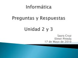 Informática Unidad 2 y 3