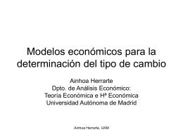 Modelos económicos para la determinación del tipo