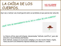 ¿QUÉ TIPO DE MOVIMIENTO PUEDE SER EL DE LA CAÍDA