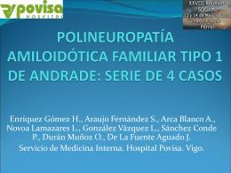 POLINEUROPATÍA AMILOIDÓTICA FAMILIAR TIPO 1 DE