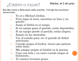 ¿Cierto o falso? - WLWV Staff Blogs