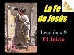 La Fe de Jesús - Jovenes Adventista