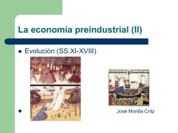La economía preindustrial (II)