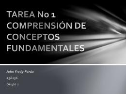 TAREA No 1 COMPRENSIÓN DE CONCEPTOS FUNDAMENTALES