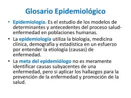 Glosario Epidemiológico