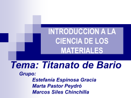 SÍNTESIS DEL TITANATO DE BARIO (BaTiO3)