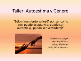 Taller: Autoestima y Género