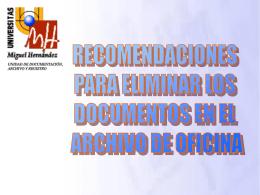 ÍNDICE - Oficina de Documentación, Archivo y