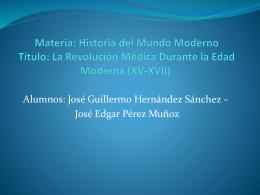 Materia: Historia del Mundo Moderno Título: La