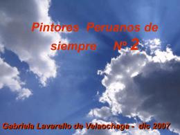 PINTORES PERUANOS Nº 2