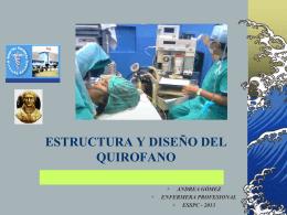 ESTRUCTURA Y DISEÑO DEL QUIROFANO