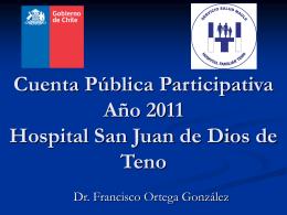 Cuenta Pública Participativa Año 2010 Hospital