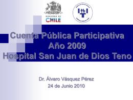 Cuenta Pública Participativa Año 2007 Hospital