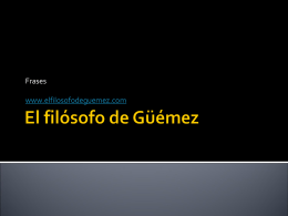 El filósofo de Gümez