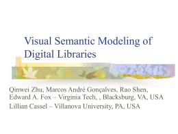 Visual Semantic Modeling of Digital Libraries