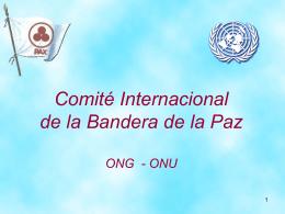 Diapositiva 1 - Comité Internacional de la Bandera