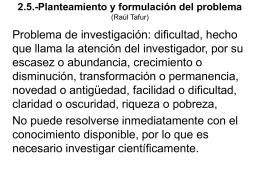 2.5.-Planteamiento y formulación del problema