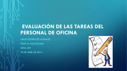 EVALUACIÓN DE LAS TAREAS DEL PERSONAL DE OFICINA