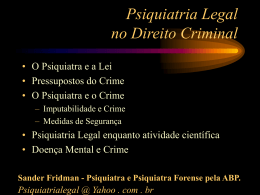 Psiquiatria Legal no Direito Criminal