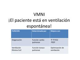 VMNI ¡El paciente está en ventilación espontánea!