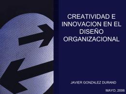 CREATIVIDAD E INNOVACION EN EL DISEÑO