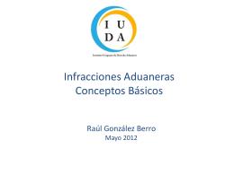 Infracciones Aduaneras Conceptos Básicos