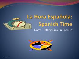 La Hora Española: Spanish Time