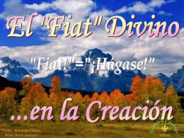 El `Fiat` Divino en la Creación