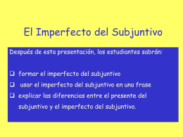 El Imperfecto del Subjuntivo - Rodgers