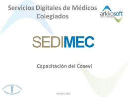 SeDiMeC - Servicios Digitales de Médicos Colegiado