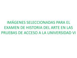 IMÁGENES SELECCIONADAS PARA EL EXAMEN DE HISTORIA
