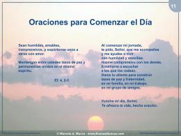 Oraciones para Comenzar el Día